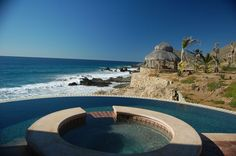 The pools at the Hacienda Cerritos have the most spectacular views of the Pacific Ocean.  Sits south of Todo Santos and 40 miles north of Cabo San Lucas, Baja California Sur, Mexico.   Go to www.YourTravelVideos.com or just click on photo for home videos and much more on sites like this.