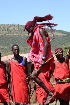 Tanzania, Ngorongoro Conservation Area. Traditional Masai Dance