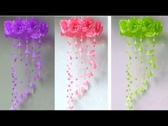 Wall Decor Crafts, Wall Hanging Crafts, Hanging Flower Wall, Paper Flower Wall, Paper Flowers, Room Decor, Hanging Paper Decorations, Expo, Flower Crafts