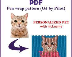 Earring Pendant Jewelry Charm PDF Digital Download Brick Stitch Bead Pattern Kitty Cat in a Box