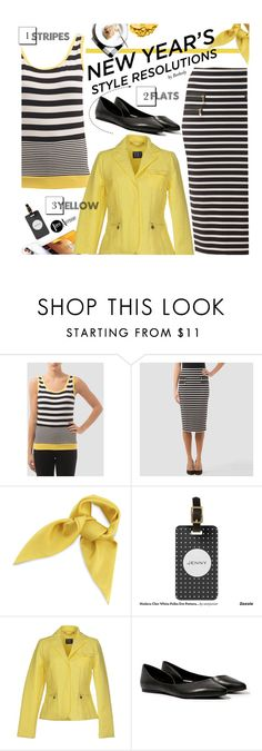 """""""New Year's Style Resolution"""" by beebeely-look ❤ liked on Polyvore featuring Joseph Ribkoff, Steve Madden, Lancôme, stripes, SpringStyle, styleresolution, premiereavenue and JosephRibkoff"""