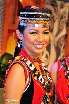 The Bidayuh tribe of Sarawak during Malaysia Gawai Dayak Open House celebration in Kuching.