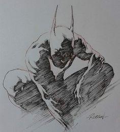 Batman Beyond Quick sketch by Robson Rocha