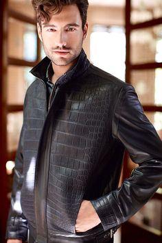 Crocodile and Leather Jacket