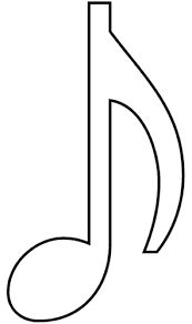 Resultado de imagem para modelo de notas musicais para imprimir