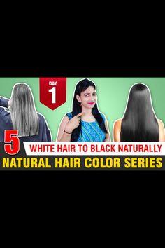 Natural Hair Colour At Home | White Hair To Black Hair Naturally Natural Hair Dye #bindunaturalworld