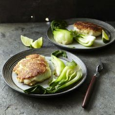 Wasabi crusted halibut and bok choy
