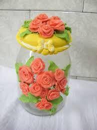 Resultado de imagen para vidros de biscuit com rosas