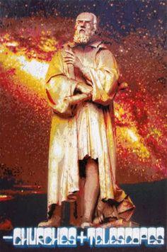 "Saatchi Art Artist Alberto Silva; Painting, ""Less churches more telescopes! Tribute to Galileo Galilei. Red version. 1 of 5."" #art"