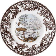 Spode Woodland: Snowshoe Rabbit from European Tableware