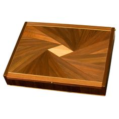 "Jean-Michel Frank attributed  ""Marqueterie de Paille"" Box  HEIGHT:	1.25 in. (3 cm) WIDTH:	7.38 in. (19 cm) DEPTH:	5.63 in. (14 cm)"