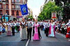 Fiestas de la Paloma en Madrid.