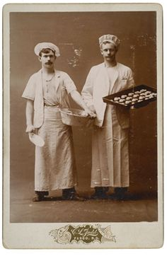 ca. 1880-90's, [occupational cabinet card of two bakers], C.L Judd via Cowan's Auctions