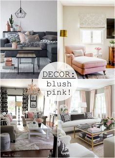 Decor: blush pink