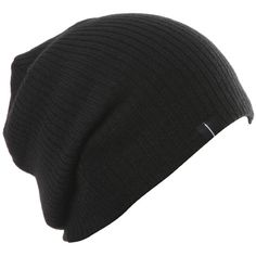 Slouch Slouchy Beanie Soft Loose Beanie Hat Black by Highly Beanie at... ($6.99) ❤ liked on Polyvore