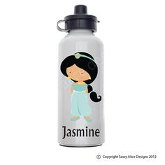 Princess Jasmine Personalized Water Bottle