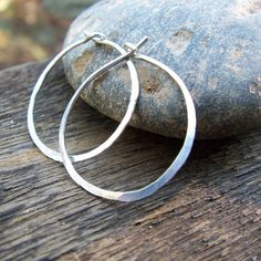 Sterling Silver Hoops  Hammered Small Classic by BeadinByTheSea, $13.00