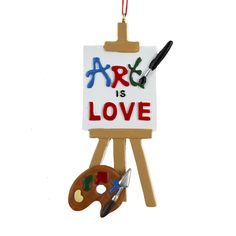Country Marketplace - Painted Art Is Love Personalized  Ornament, $12.00 (http://www.countrymarketplaces.com/painted-art-is-love-personalized-ornament/)