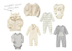 simple baby clothing ideas  *I have many of these for your use in the studio!*
