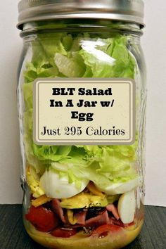 BLT W/Egg Salad in A Jar by Mason Jar Mamas