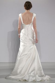 Maggie Sottero - Bridal Fall 2013    TAGS:Embroidered, Floor-length, Straps, Train, Ivory, Maggie Sottero, Satin, Silk, Glamour