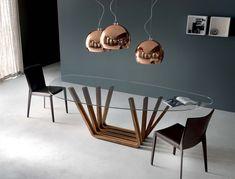 Spyder tavolo ~ Tavolo allungabile in legno con base in metallo di ozzio