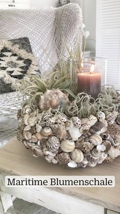Summer Crafts, Diy And Crafts, Seashell Display, Seashell Projects, Small Flower Pots, Summer Deco, Container Flowers, Shell Crafts, Centerpiece Decorations