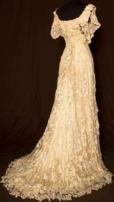 Irish Crochet Gown 1908 http://marjan.yourfreedomproject.com :)