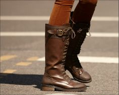 WANT! -- A luxurious pair of leather boots is a fall must #tjmaxx #streetstyle