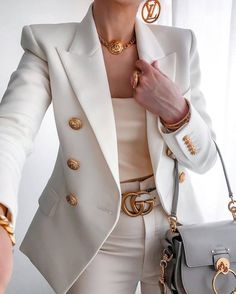 Classy Outfits, Casual Outfits, Cute Outfits, Office Outfits, Suit Fashion, Fashion Outfits, Womens Fashion, Style Fashion, Luxury Fashion