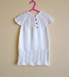 Handknitted White Summer TunicDress for by DaydreamDestination, £25.00
