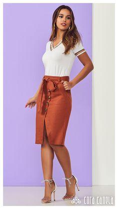 LOOK BOOK 4 • Coleção Cosmopolitan • Cora Canela Skirt Outfits, Dress Skirt, Casual Outfits, Lace Dress, Fashion Outfits, Womens Fashion, Fashion Fashion, Pencil Skirt Work, Beautiful Outfits