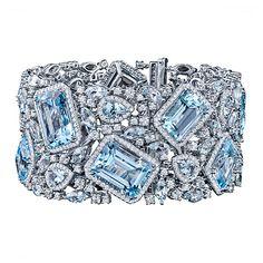 Robert Procop Blue Topaz & Diamond Bracelet
