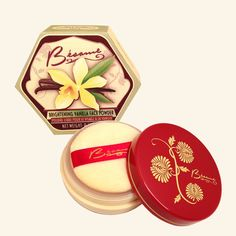 Velvety soft powder with yellow tint that helps control rednessand has a delicate vanilla scent. Perfect for light to medium skin.Can be usedrepeatedly durin