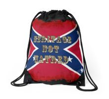Heritage, not Hatred US Civil War History Art Drawstring Bag