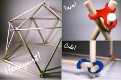 Stick-Lets Small educational/school kit 90 stuks Atelier Home, School Kit, Home Stuck, 3d Cnc, Wood Joints, 3d Prints, Assemblage, Home And Deco, Wood Toys
