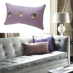 Purple Accent Pillows featured in our 2017 color Paint Color of the Year Violet Verbena.