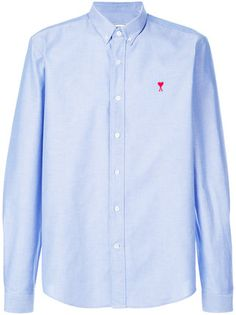Ami Alexandre Mattiussi embroidered logo Oxford shirt