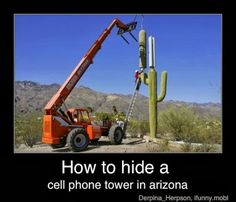 Smarphone Humor | Brilliant! | How to hide a cell phone in Arizona | From Funny Technology - Community - Google+ via Fauzia Lafemme