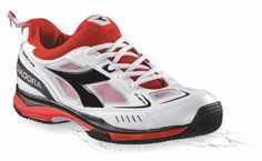 Diadora tennisschuhe Speed Pro Me uVP 120.- - - Bianco/Nero/Rosso, 44 EU (9.5 UK) EU