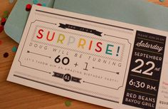 Surprise! by Danielle Aldrich, via Behance. Love the use of color here.