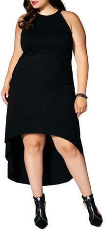 Mblm By Tess Holiday Plus Hi-Lo Sleeveless Maxi Dress