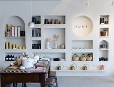OUR PHILOSOPHY - It's quite simple, we carefully curate a collection of winsome home and lifestyle wares that embody simplicity and elevate the everyday. Commercial Interior Design, Commercial Interiors, Diy Home Supplies, Cafe Design, House Design, Living Room Decor, Living Spaces, Retail Store Design, Retail Interior