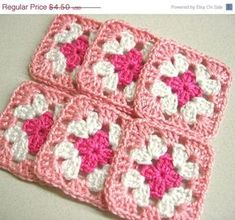 crocheted granny square by shelby