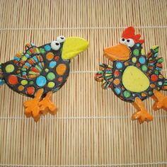 2 черные птицы керамические глазурованные в виде & # 039; мозаика