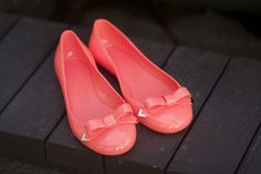 Coral Jelly Bow Flats