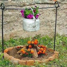 what a nice idea, campfire flowers