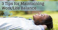 With the new school year in full swing, a reminder that work/life balance is critical! Here are a few tips to follow!