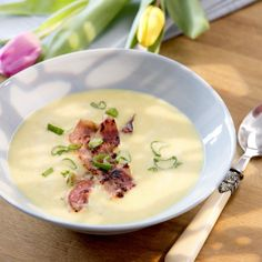 Cremige Maissuppe mit Bacon