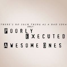"""""""There's no such thing as a bad idea. Only poorly executed awesome ones. Damon Salvatore - The Vampire Diaries ♥ Clever Quotes, Cute Quotes, Nice Sayings, Vampire Diaries Funny, Vampire Diaries The Originals, Favorite Quotes, Best Quotes, Superb Quotes, Serious Quotes"""